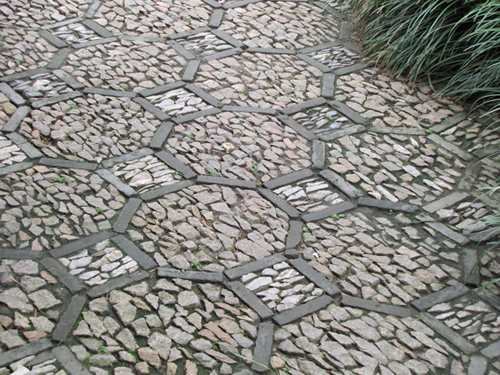 Chinese style intricate paving