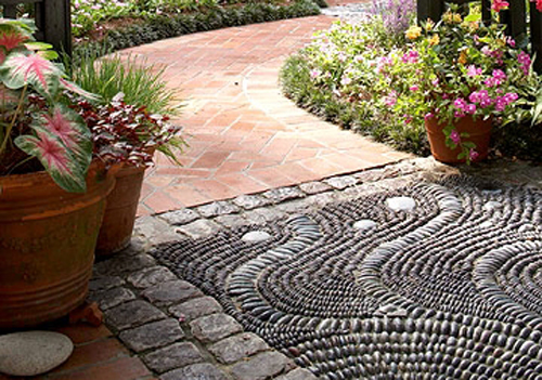 Mosaics can be intricate paving choice
