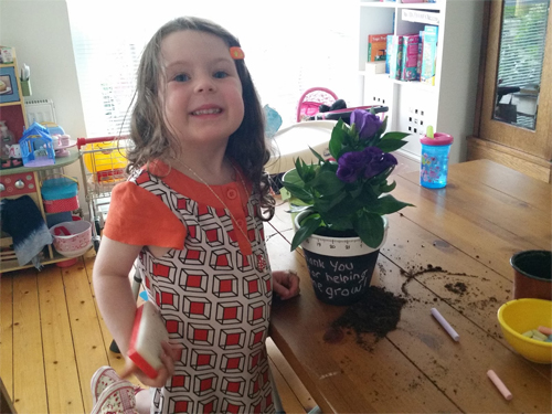 A unique chalkboard planter for my lovely teacher Mrs Sneddon