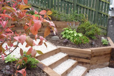 The garden is much easier to access and maintain now