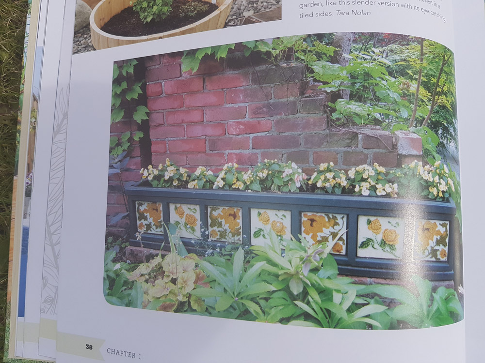 A tiled raised bed