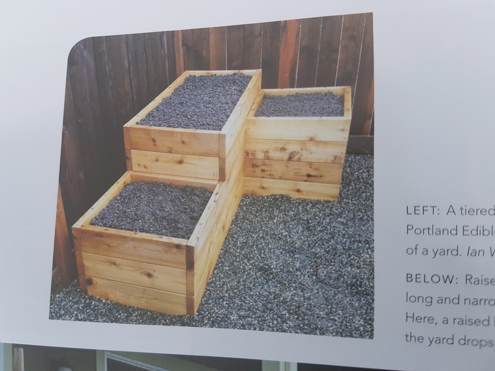 A tiered raised bed