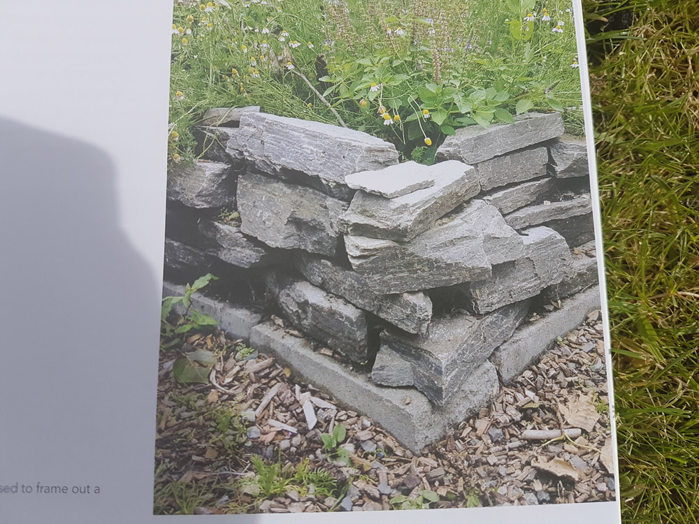 A dry-stane raised bed
