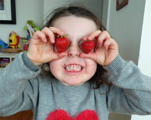 I've only got eyes for yummy strawberries!