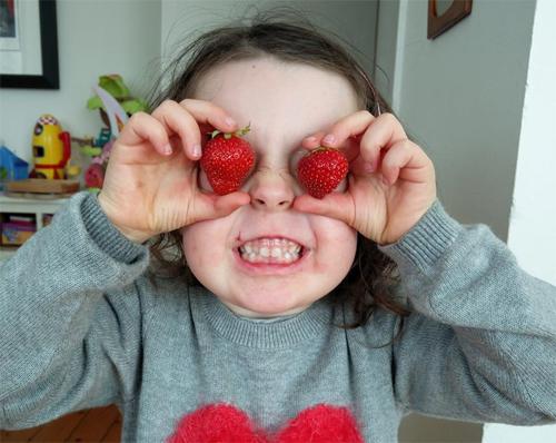 I've only got eyes for yummy strawberries!