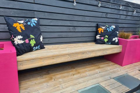 A few cushions makes this a lovely space to relax