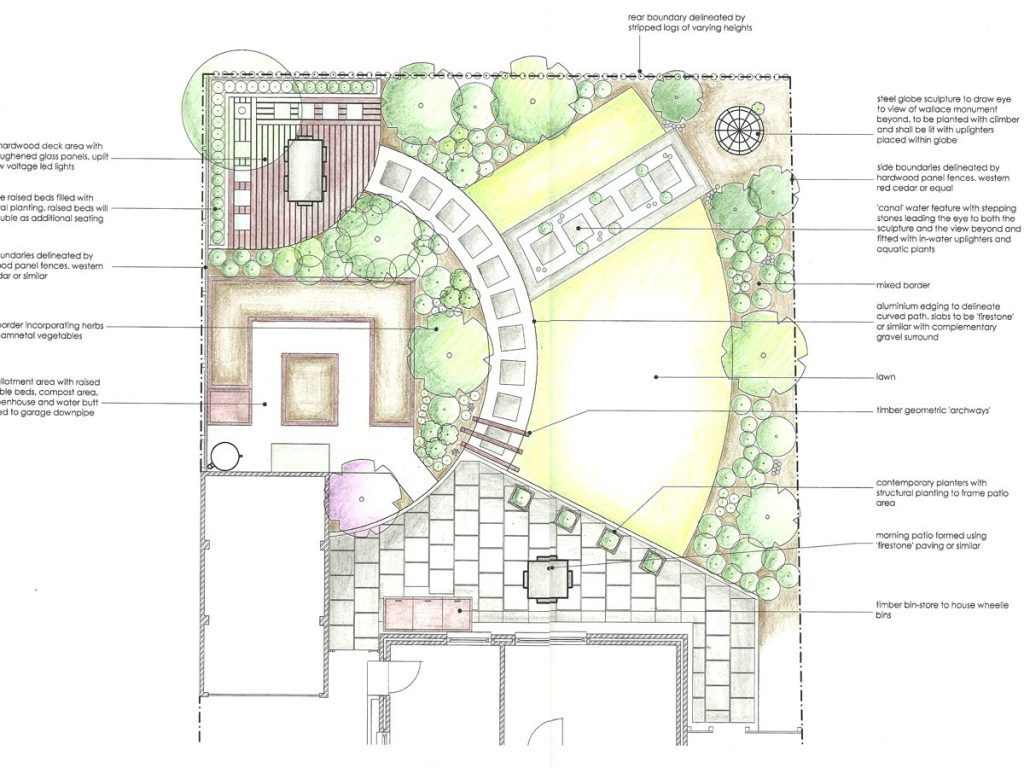 Our design for a contemporary wildlife garden