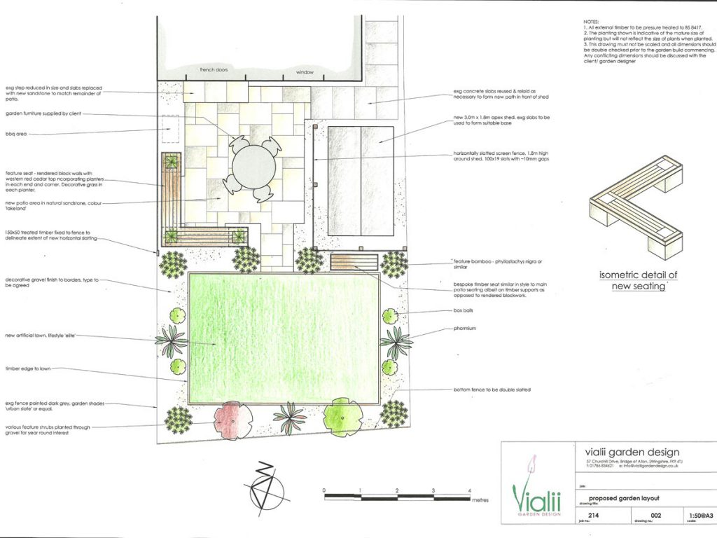 Our design for a contemporary low maintenance garden