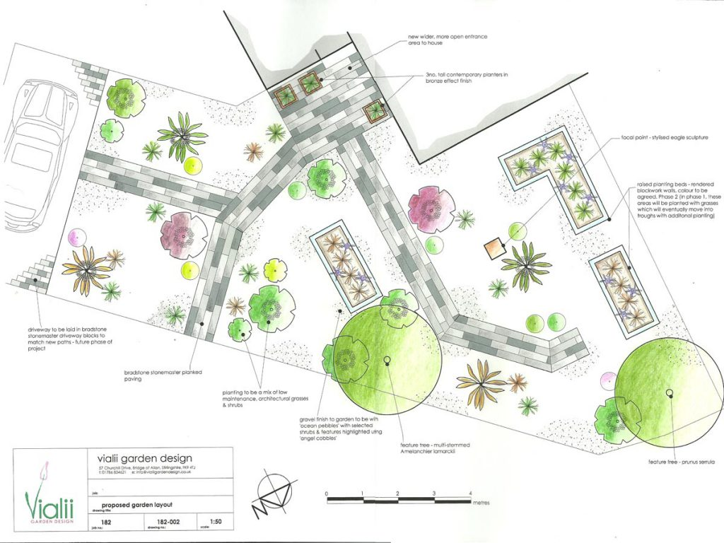Our design for a contemporary front garden
