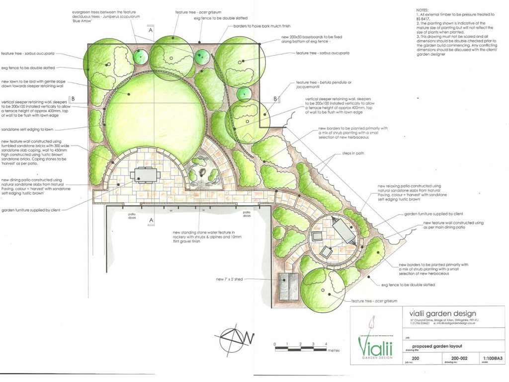 Our design for a sloping family garden