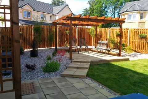 The new pergola provides height and privacy
