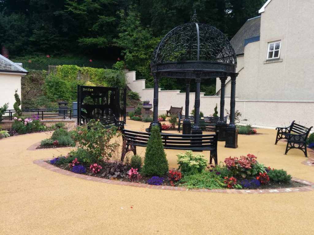 After: the new gazebo, planting and Victorian design
