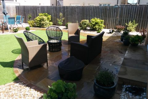 The sandstone morning patio