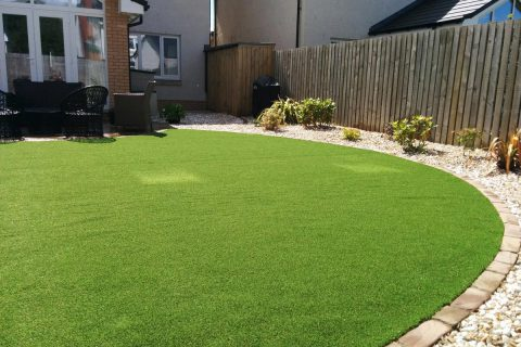 The new artificial grass is no maintenance