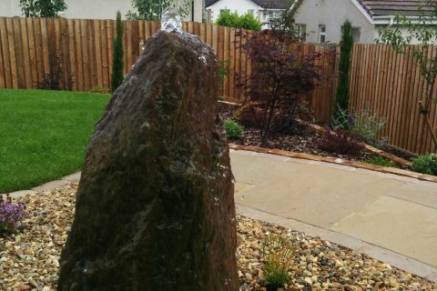 The standing stone water feature