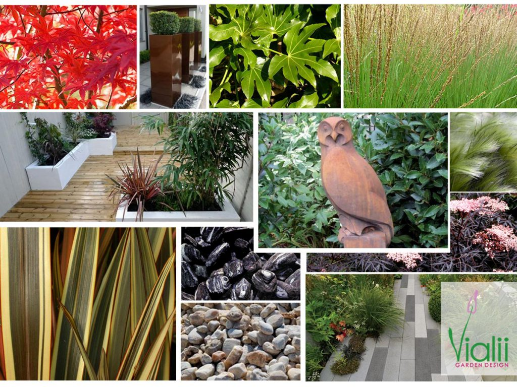 Our moodboard for a contemporary front garden