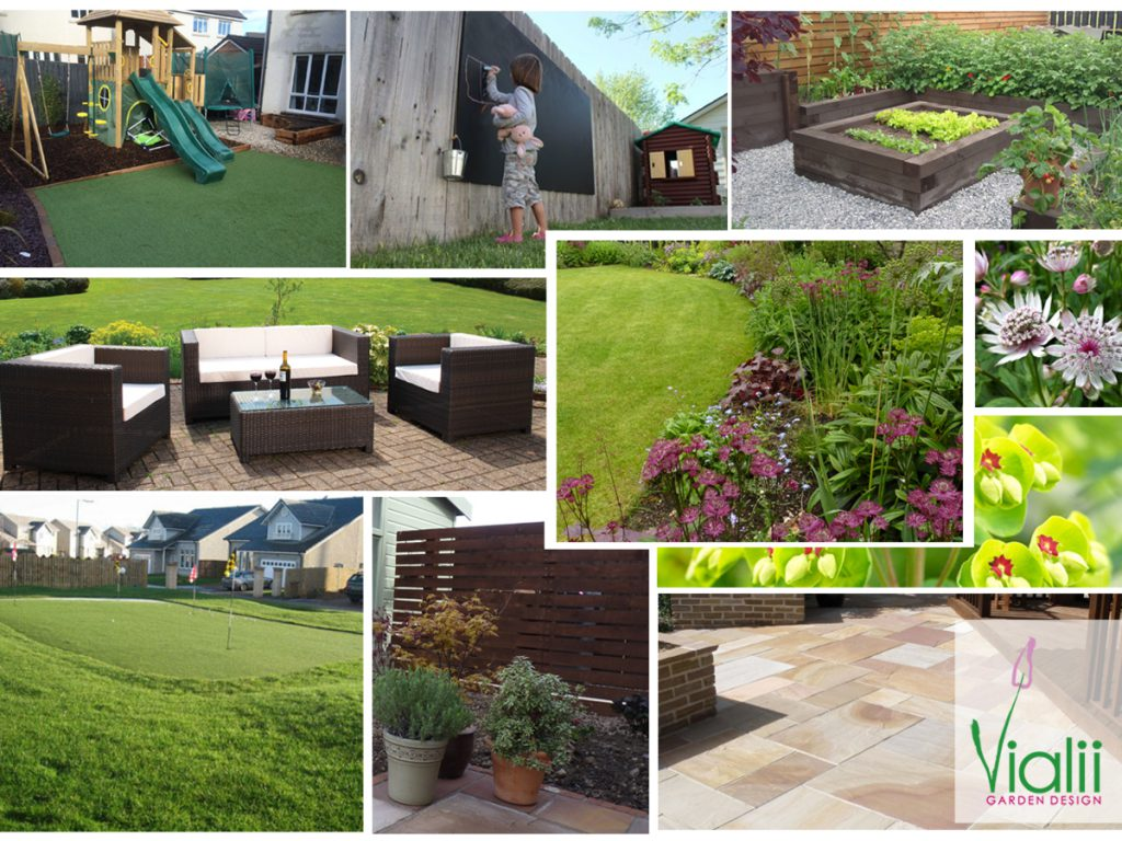 Moodboard for a golf lovers garden