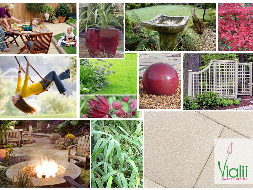 Our moodboard for a playful family garden