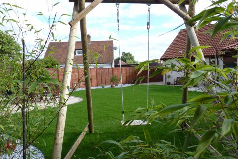The swing, the perfect place to relax and enjoy the garden