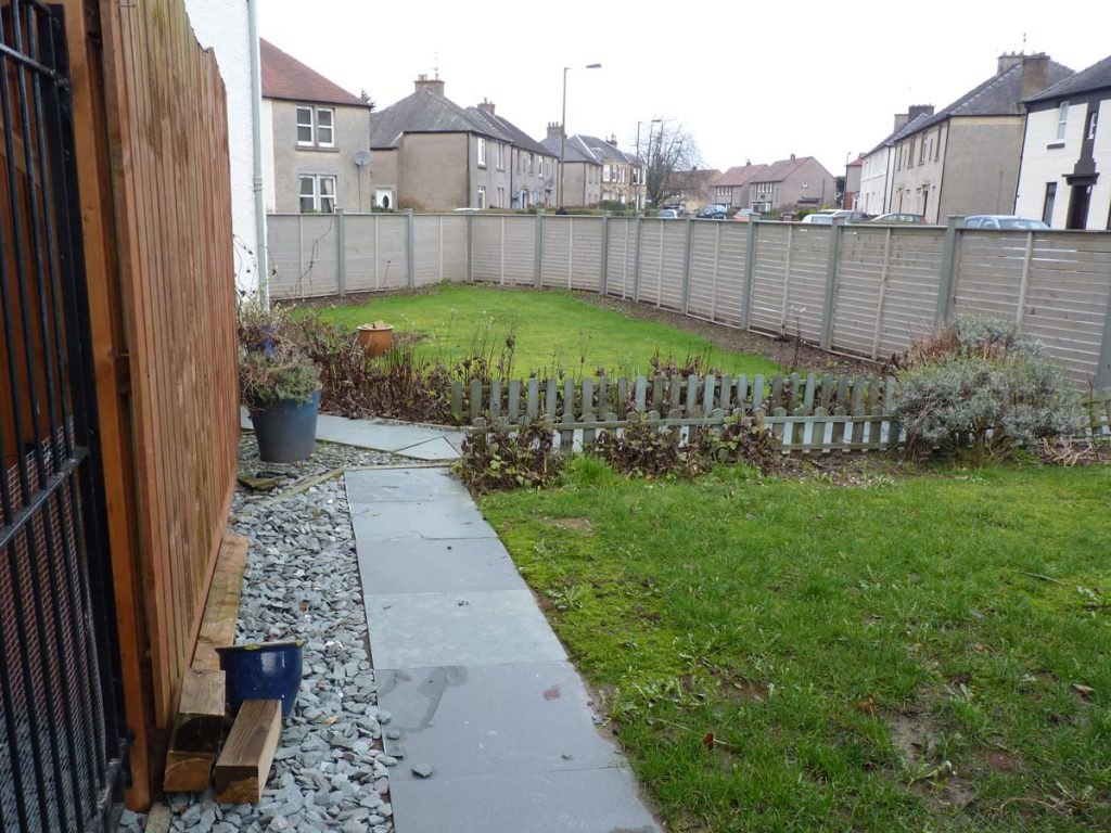 Before: the garden did not reflect the client's love for design
