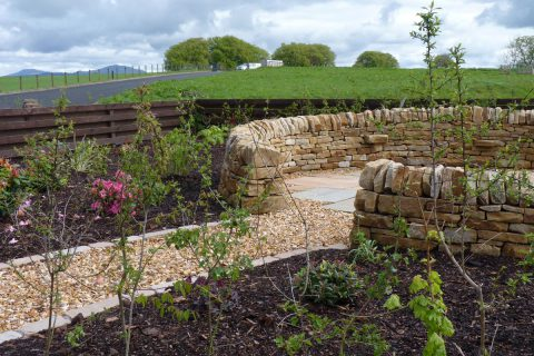 The new walling helps provide shelter in an exposed area