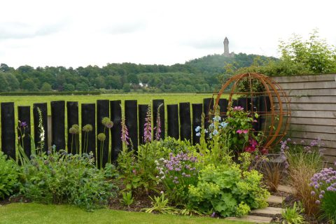 The new log fence allows views across the fields