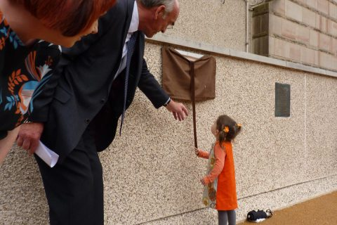 Our daughter Lulu officially opened Provost's Park in 2014