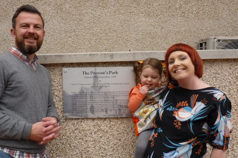 Michael, Jill & Lulu with the new plaque
