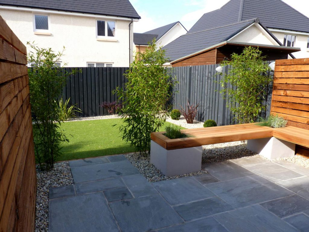 After: a contemporary low maintenance garden