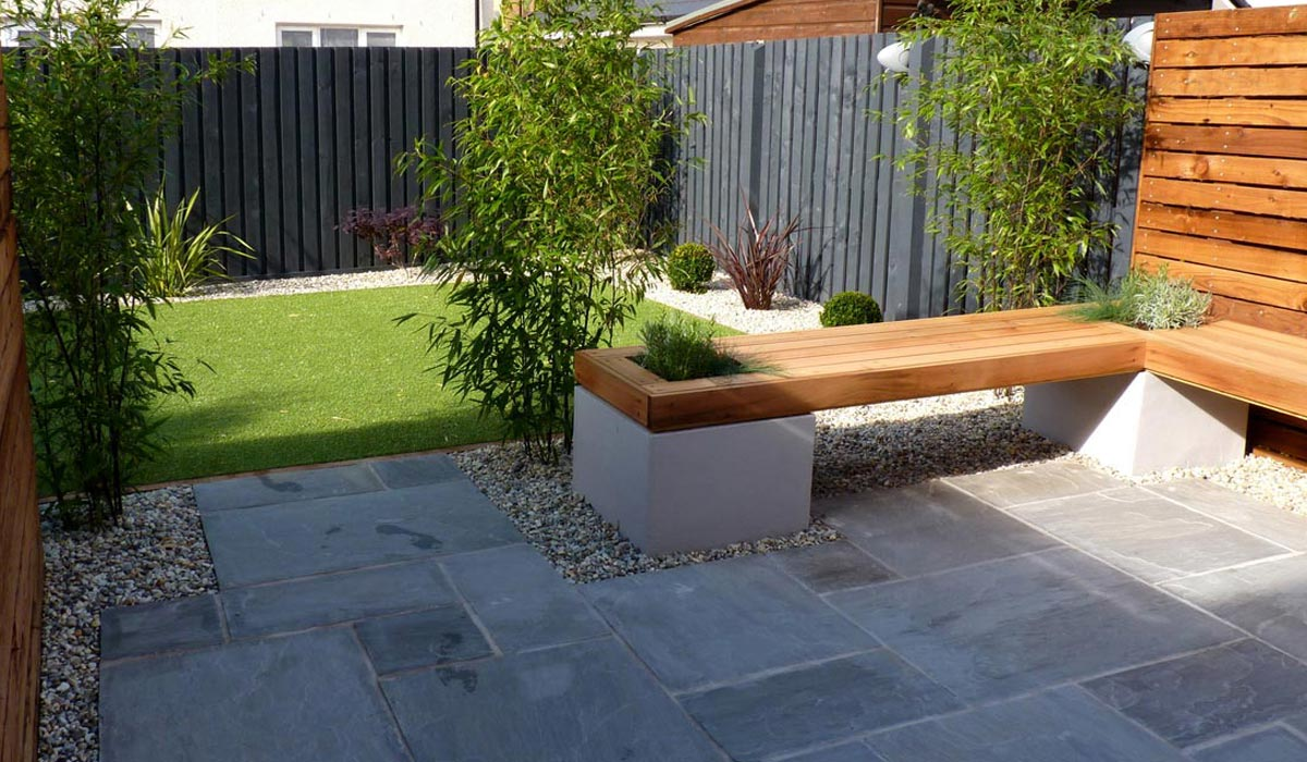 A contemporary low maintenance garden vialii garden design for Modern back garden designs