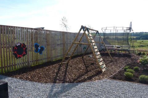 The new play area