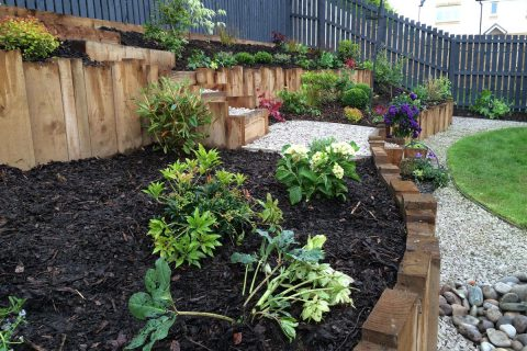 Planting in the raised beds is easy to maintain