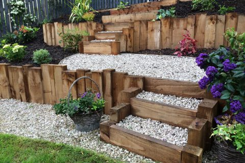 New steps and paths allow the terrace to be accessed easily