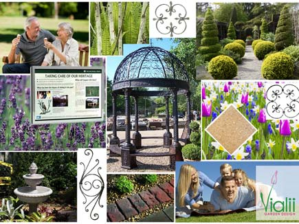 Our moodboard for Provost's Park