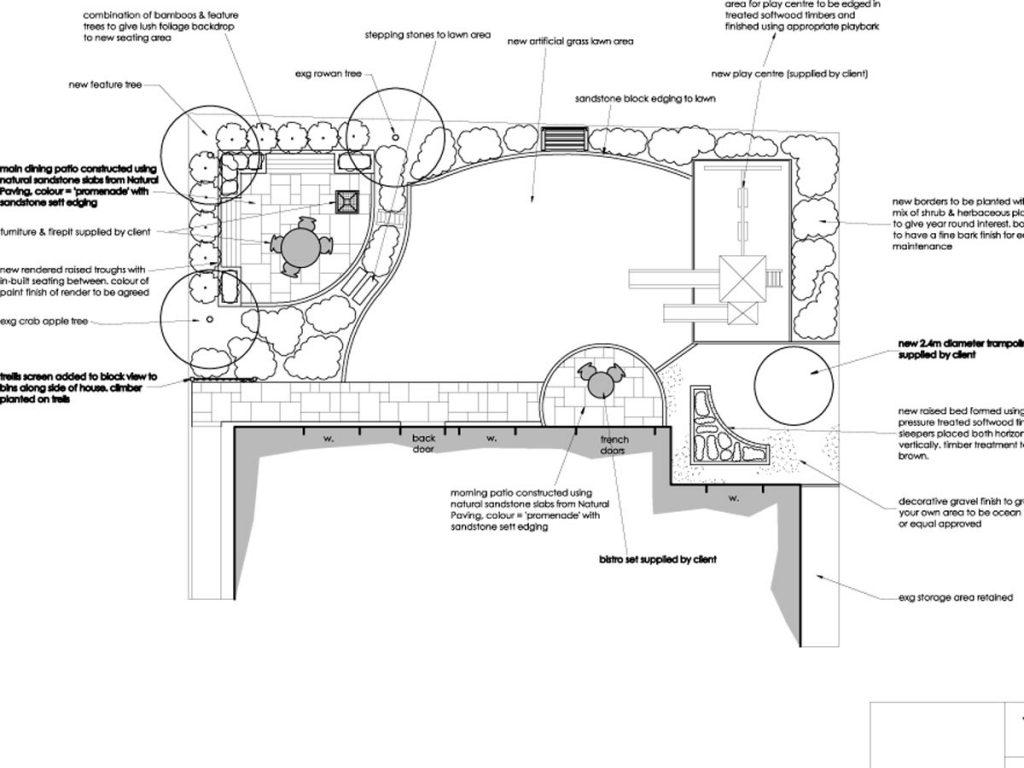 Our design for a modern family garden