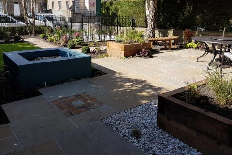 View across the new front garden transformation