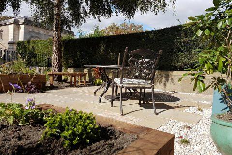 The new sunny patio