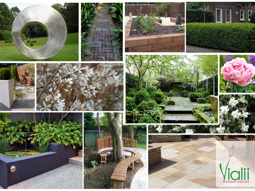 Our moodboard for the front garden transformation