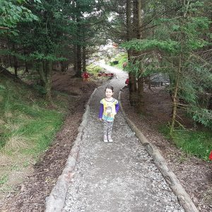Heading to the Fairy Village in Balfron