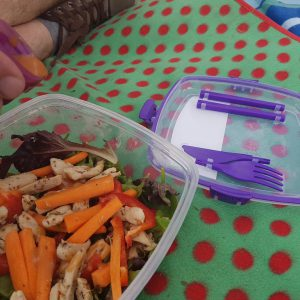 The Chill it to Go containers is perfect for salads on the go