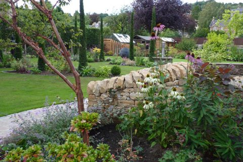 A peak through to the main part of the garden