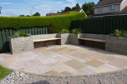 The large patio, perfect for entertaining