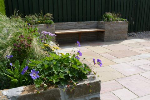 Planting in the new bespoke seating