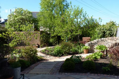 The new patio & paths