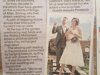 Sunday Mail humanist's weddings