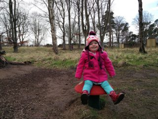 Tilda on a toadstool