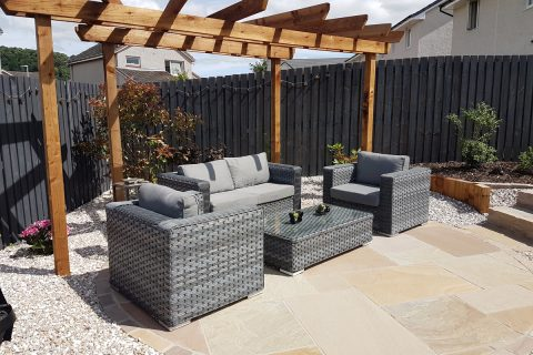 The lounging patio & pergola