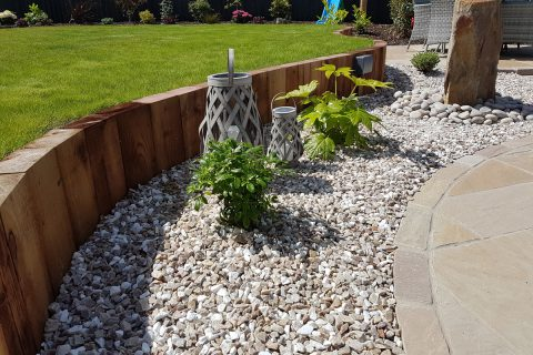 The timber retaining wall