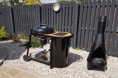 The barbecue and fire pit