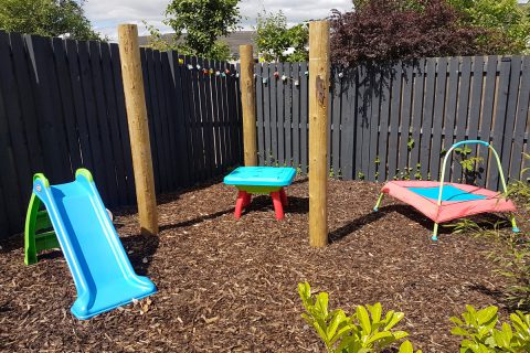 The children's play area
